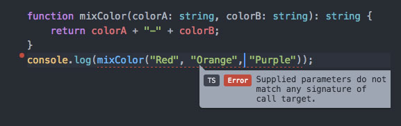 Atom-TypeScript function parameter error