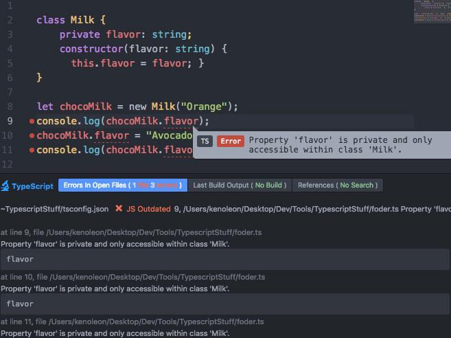 Atom-Typescript Modifier error