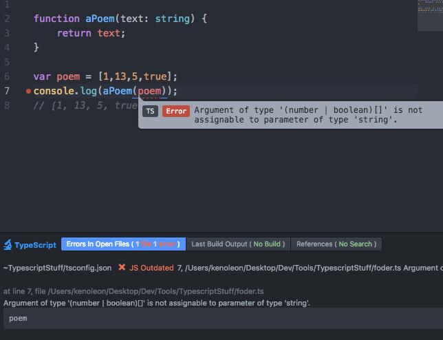 Atom-TypeScript warning